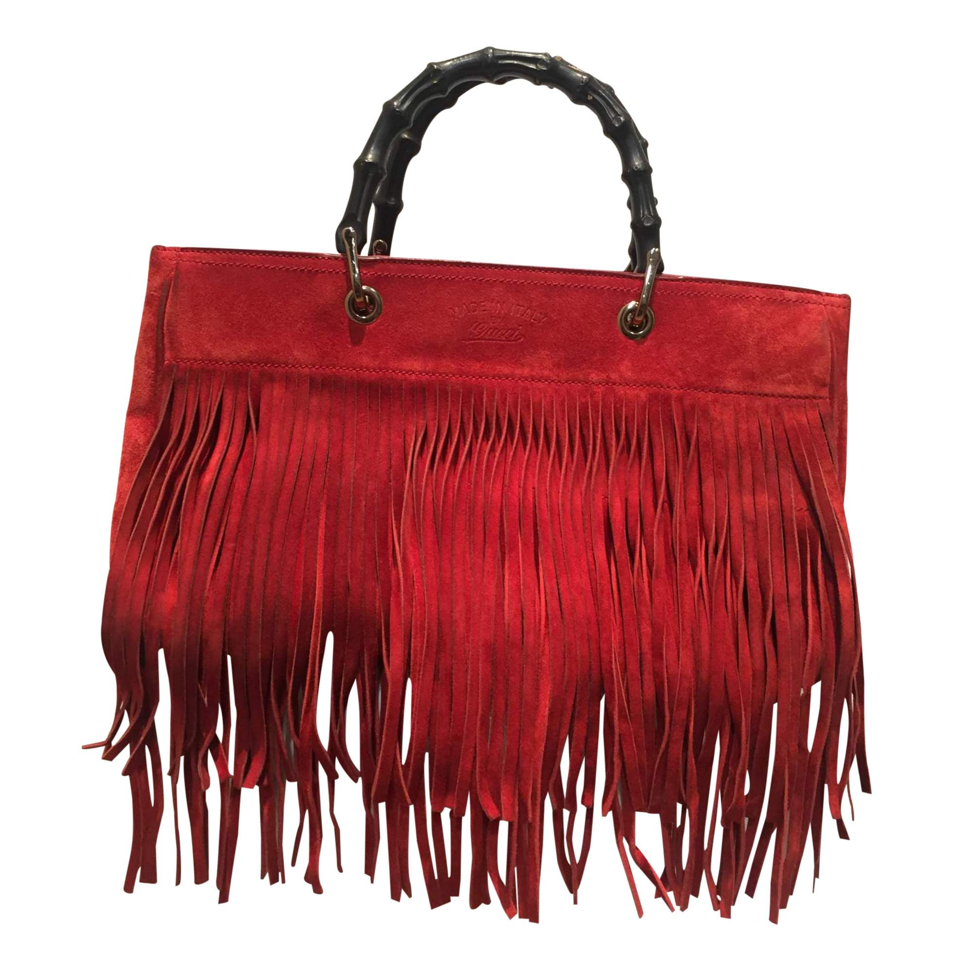 709fc3699d3e Gucci Red suede fringe Bag | The Chic Selection