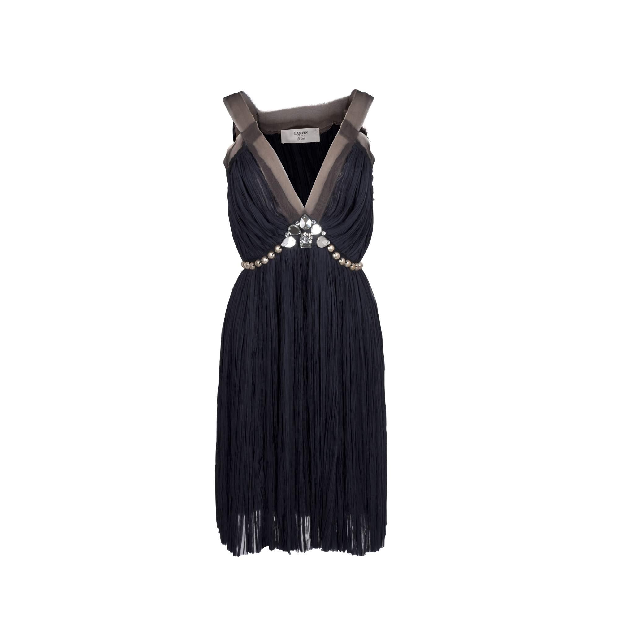 Silk Beaded Dress 0