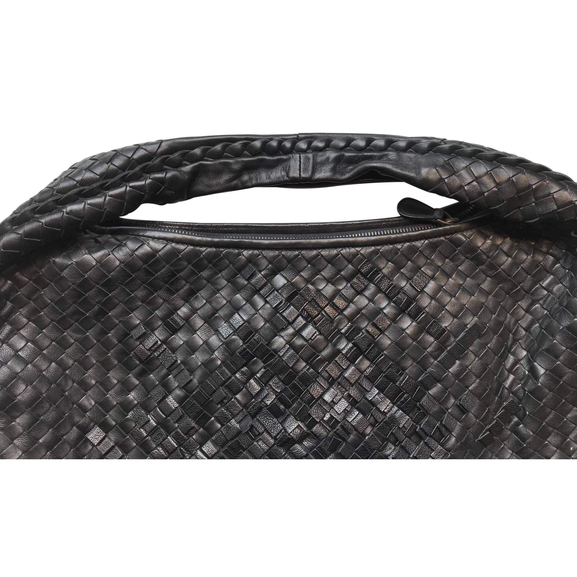 fd6595d5b67c Bottega Veneta Black Leather Basket Weave Handbag
