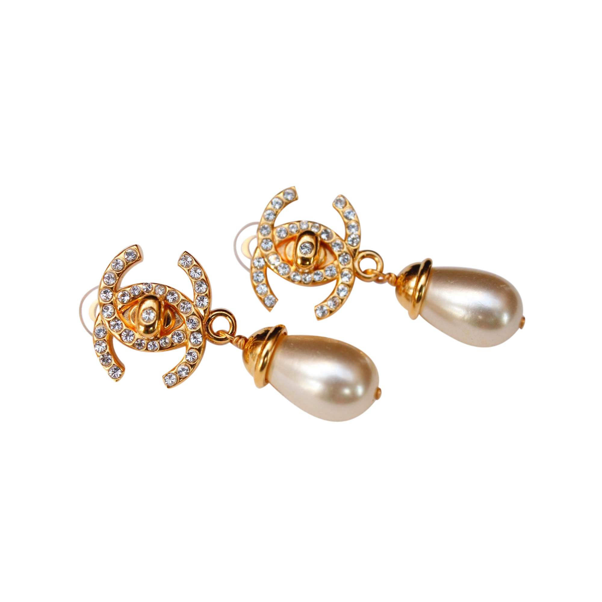 Saint Laurent Gilded Gold And Pearl Clip-on Earrings 4Ir8MGeM