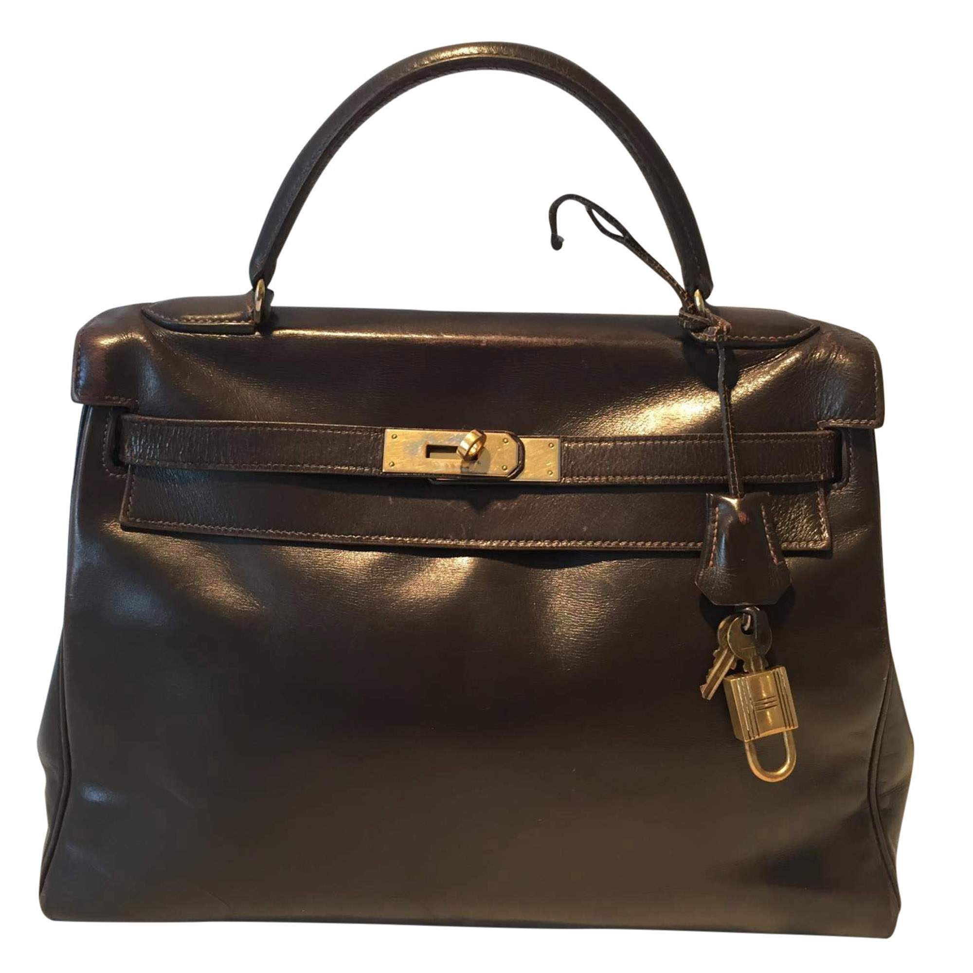 078fa5c4aab6 Hermes Kelly Bag in brown leather vintage 1970 | The Chic Selection