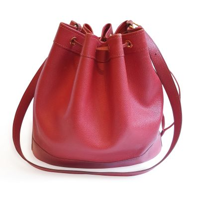 Red Garance Bucket Bag -0