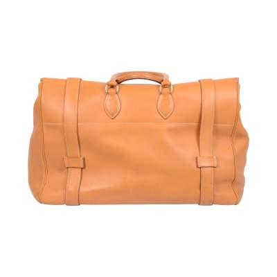 """Vintage Leather gold """"Drag"""" travel Bag -3"""