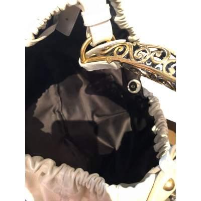 Beige leather Bag-9