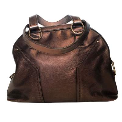 Large bronze shiny leather Bag-3
