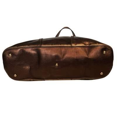 Large bronze shiny leather Bag-9