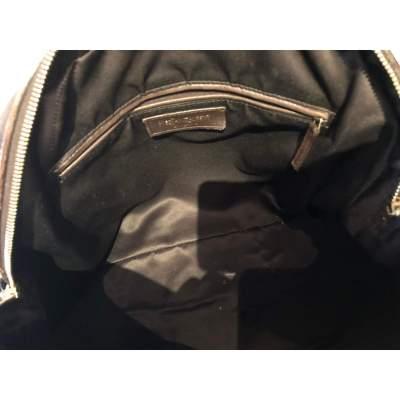 Large bronze shiny leather Bag-11