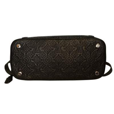 Monogram embroidered leather Bag-5