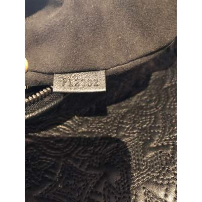 Monogram embroidered leather Bag-11