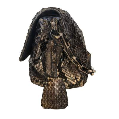 Black and gray python Bag-5