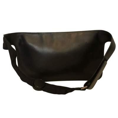 Black leather belt Clutch-3