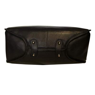 Black grained leather Bag-7