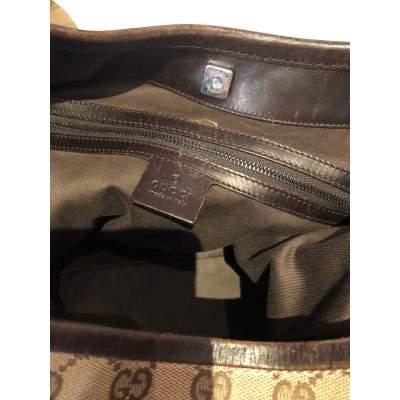 Canvas monogram leather Bag-11