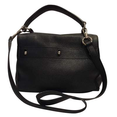 Black leather hand bag-3