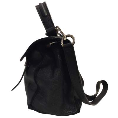Black leather hand bag-5