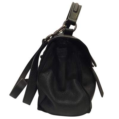 Black leather hand bag-7