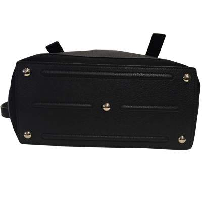 Black leather hand bag-9
