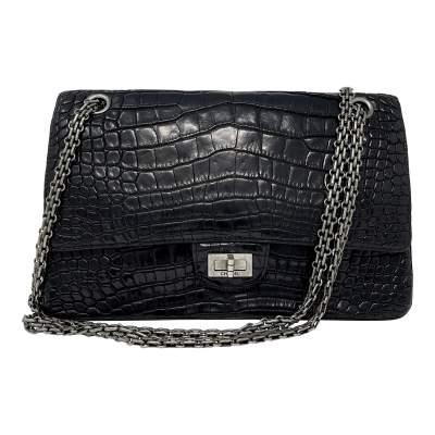 Black Crocodile bag -0