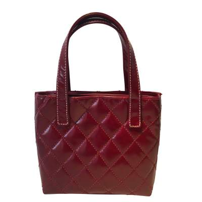 Red quilted vinyl Bag-3