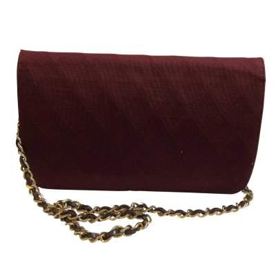 Vintage burgundy canvas Bag-3