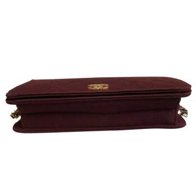 Vintage burgundy canvas Bag-9