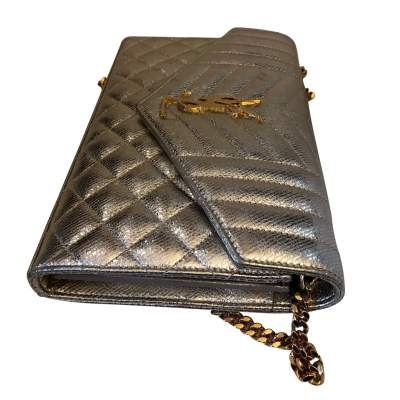 Golden small leather Bag-7