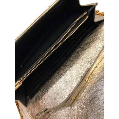 Golden small leather Bag-11