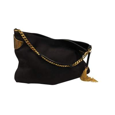 Black Suede Bag -0