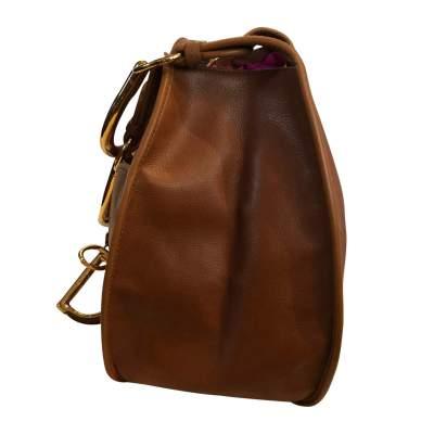 Large gold leather Bag -7