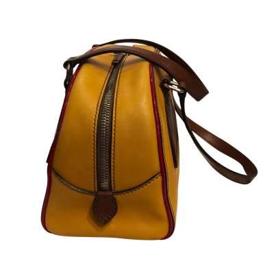 Mustard leather Bag-5