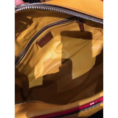 Mustard leather Bag-11