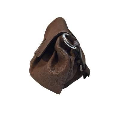 Pink/beige leather Handbag-5