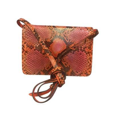 Orange python shoulder Bag-3