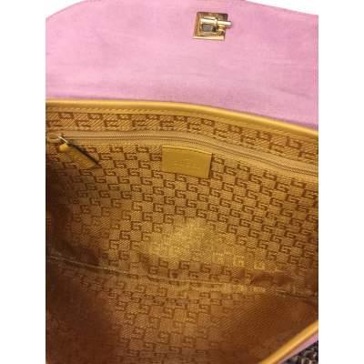 Pink suede shoulder Bag-11