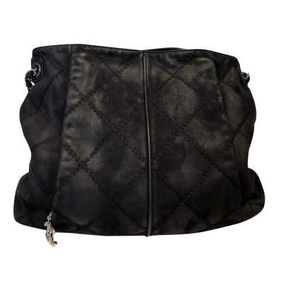 Black leather Bag -0