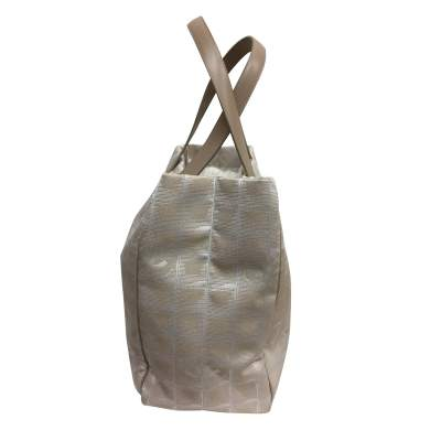 Beige canvas tote Bag-5