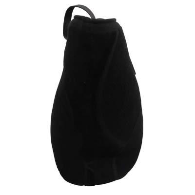 Black leather tote Bag-5