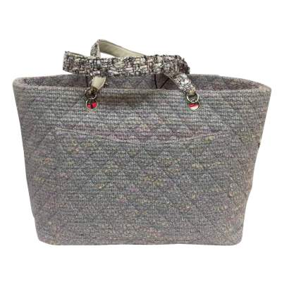 Collector tweed and lurex tote Bag-3