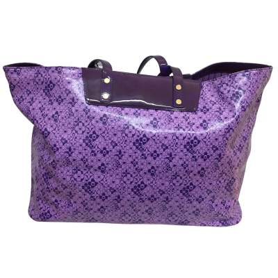 Large purple tote Bag-3