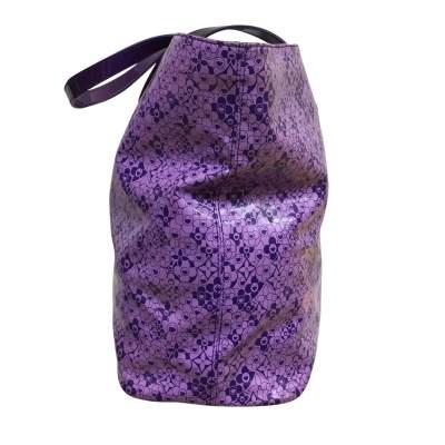 Large purple tote Bag-5