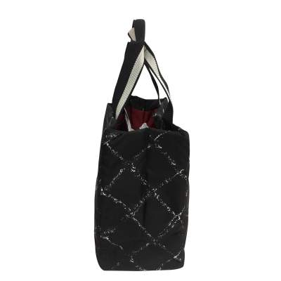 Black waterproof canvas tote Bag-5