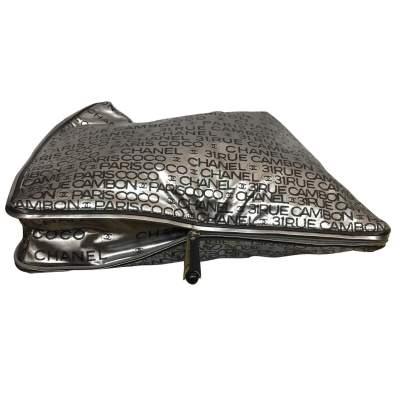 Silver vinyl tote Bag-7