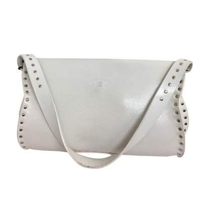 White leather shoulder Bag-3
