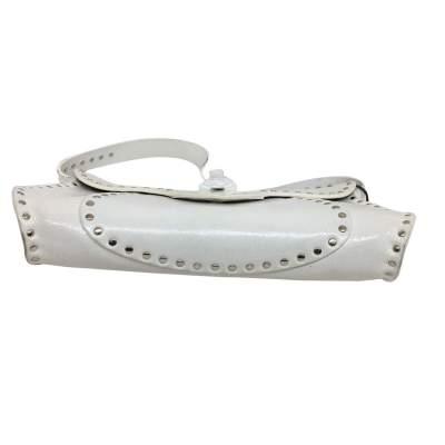 White leather shoulder Bag-7