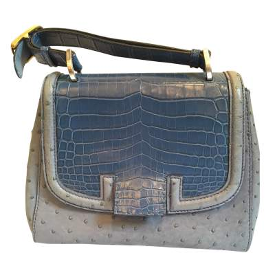 Ostrich and crocodile Bag-0
