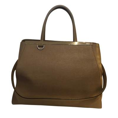 """Always"" taupe leather Handbag-0"