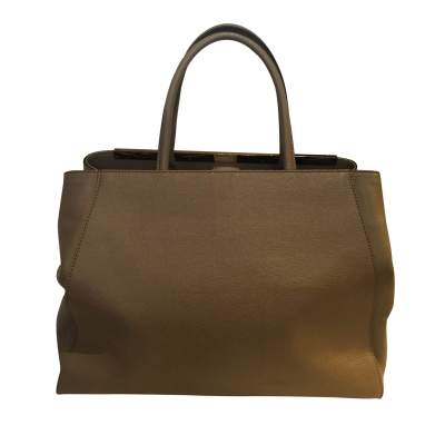 """Always"" taupe leather Handbag-3"