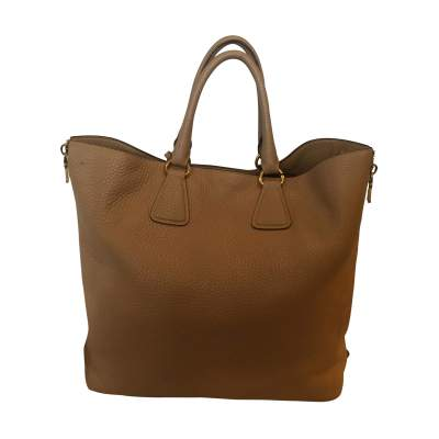 Grained leather tote Bag-3