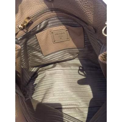 Beige Vitello Daino Expandable Shopper Bag-11