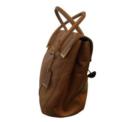 Gold hammered leather Handbag-5